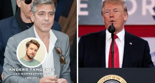 Trump og George Clooney er uenige om Clooney er død