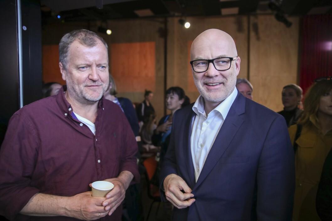 Charlo Halvorsen og Thor Gjermund Eriksen på NRKs høstslipp tidligere i år.