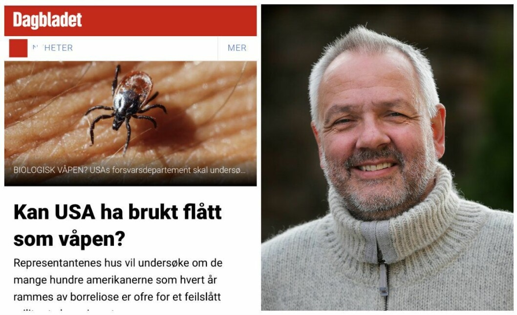 Skjermdump av Dagbladets sak og overlege Preben Aavitsland ved Folkehelseinstituttet.