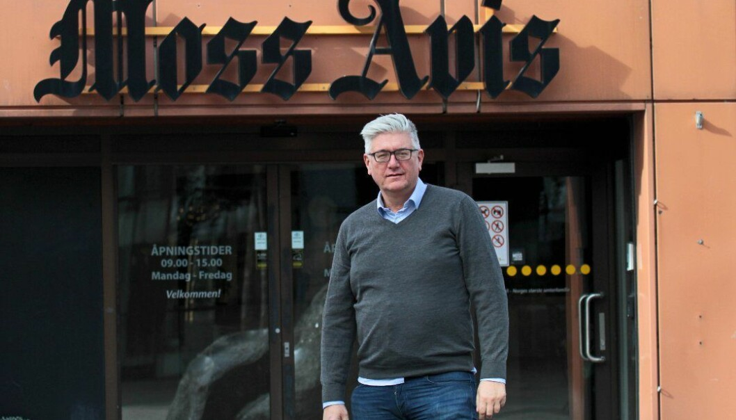 Ansvarlig redaktør og daglig leder Pål Enghaug i Moss Avis.