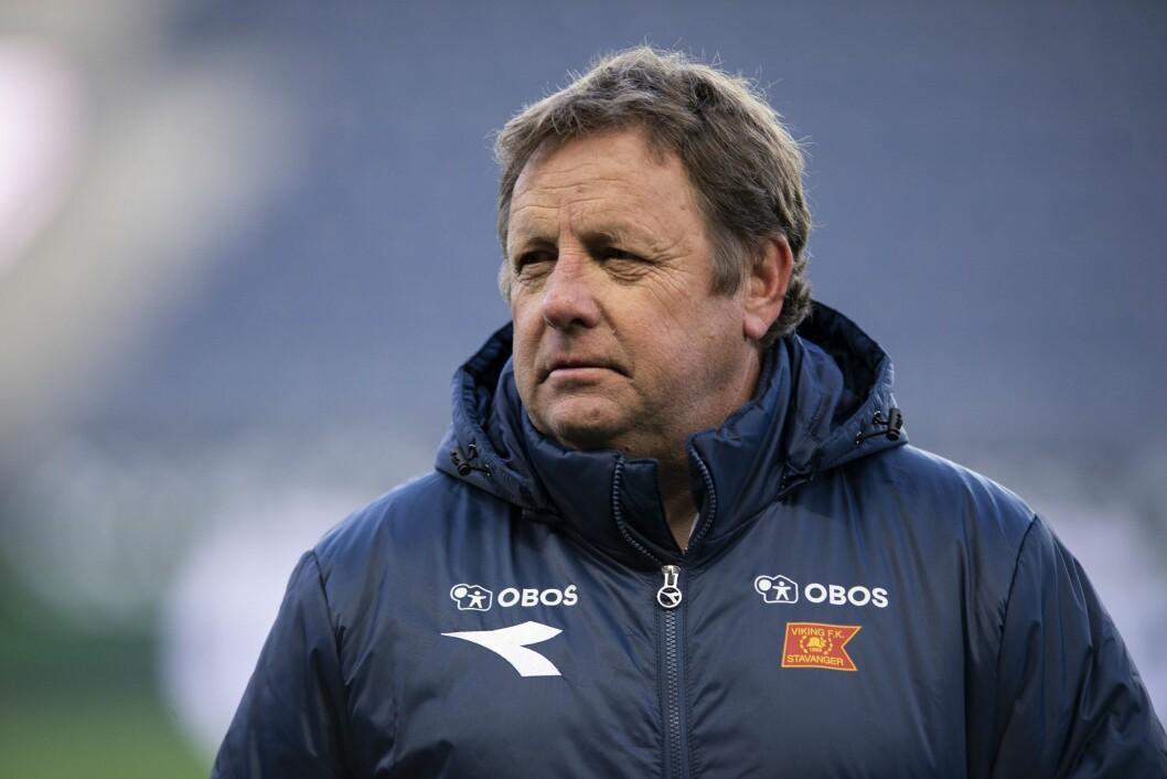 Viking-trener Bjarne Berntsen er lite fornøyd med oppførselen til lokalavisene.