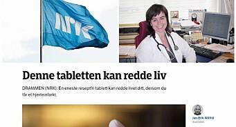 Lege ut mot NRKs aspirin-sak: – Skaper hysteri og sykdomsangst hos befolkningen