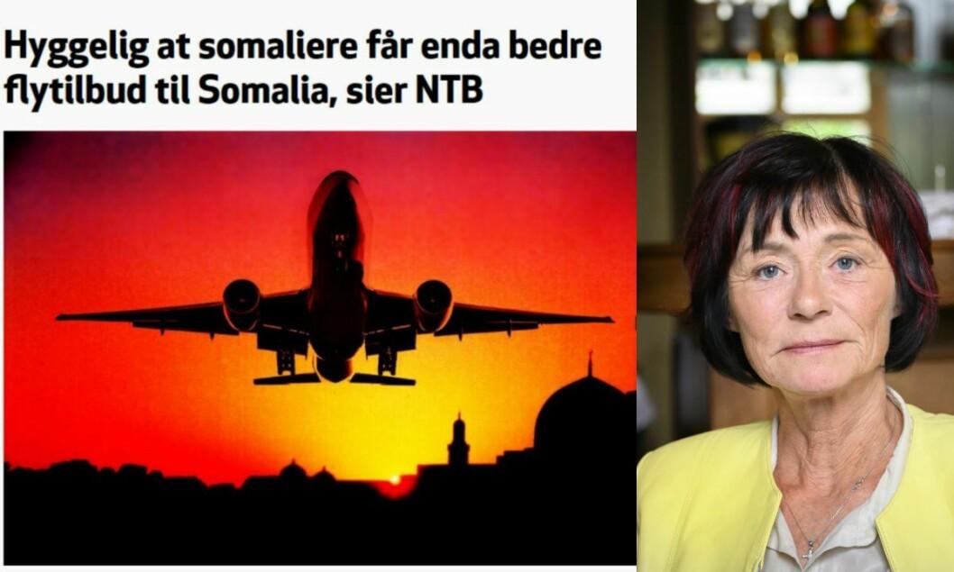 Det er ikke riktig at nyhetsbyrået NTB skriver at det er «hyggelig at somaliere får enda bedre flytilbud til Somalia», etter at flyselskapet Ethiopian Airlines åpnet to nye flyruter, skriver Faktisk.