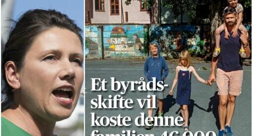 Denne Aftenposten-framsida får Høgre-politikarar til å rase