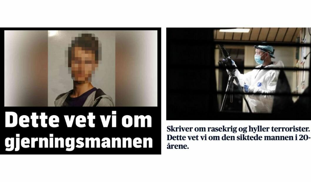 Foto: Skjermdump hentet fra TV 2 og Aftenposten.
