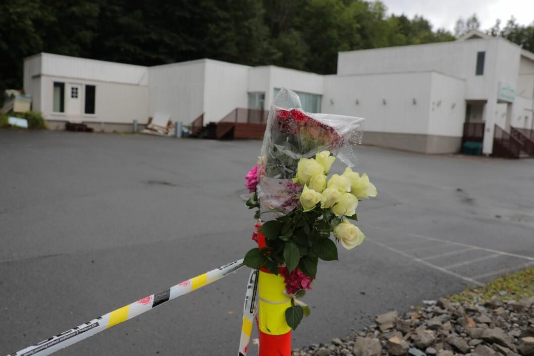 Mmoskeen Al-Noor Islamic Centre i Bærum mandag morgen. Foto: Ørn E. Borgen / NTB scanpix