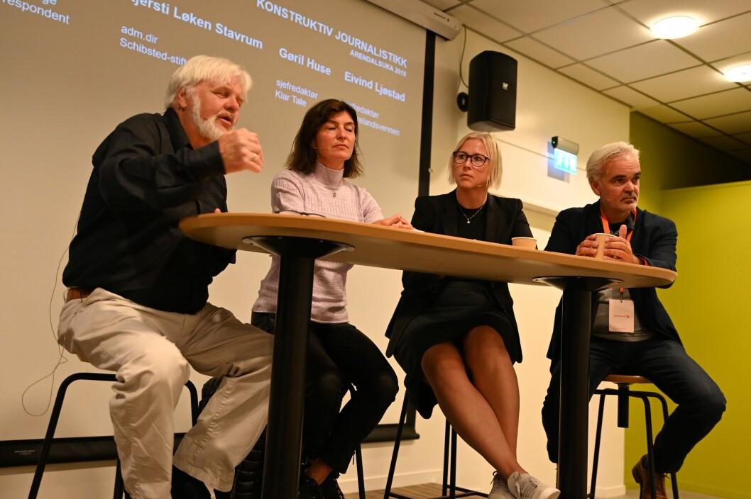 Tomm Kristiansen,  Kjersti Løken Stavrum, Gøril Huse og Eivind Ljøstad deltok i torsdagens paneldebatt.