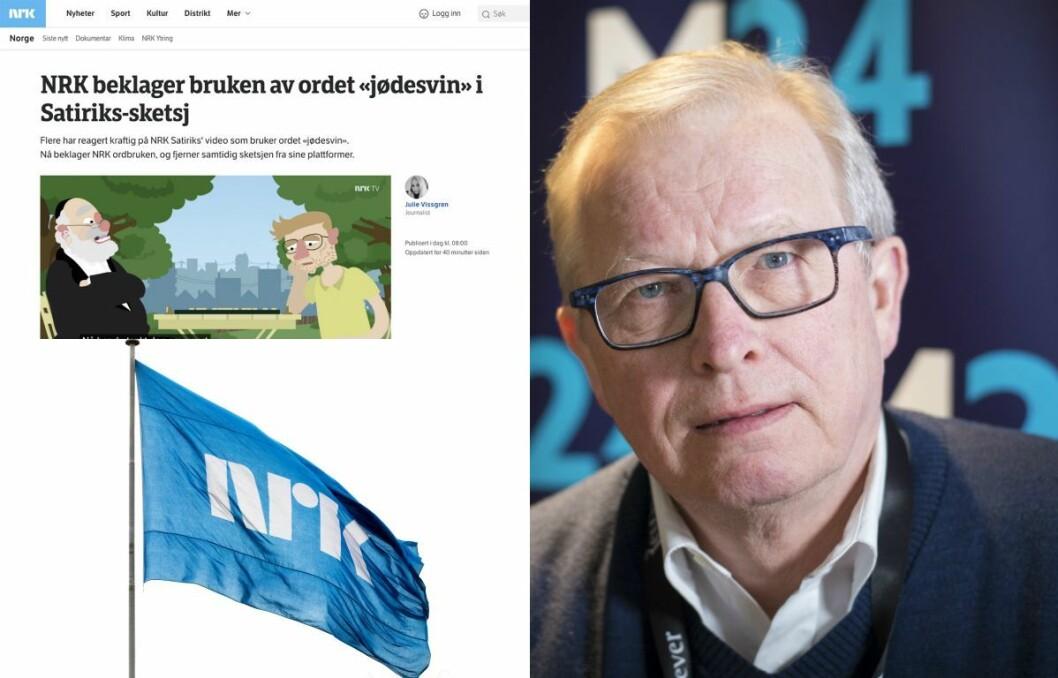 Mediekritiker Bernt Olufsen i Medier24 mener NRKs håndtering av «jødesvin»-saken var sommerens flaueste medieøyeblikk.