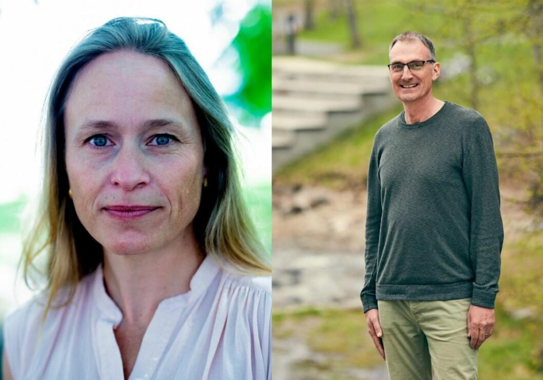 Nationen-redaktør Irene Halvorsen og landbrukspolitisk talsperson Harald Moskvil i Miljøpartiet dei Grøne.
