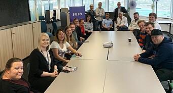 Rekordstort kull: 16 studenter har begynt på master i undersøkende journalistikk i Bergen