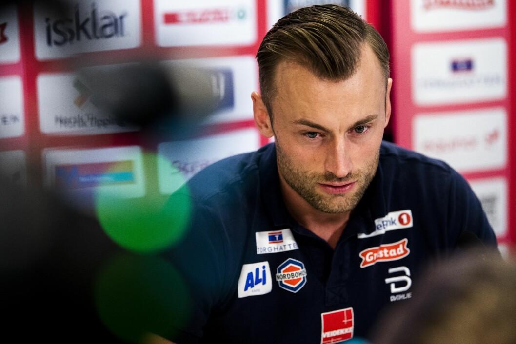 En rørt Petter Northug fortalte på pressekonferanse på Lerkendal at han skulle legge opp som langrennsutøver.