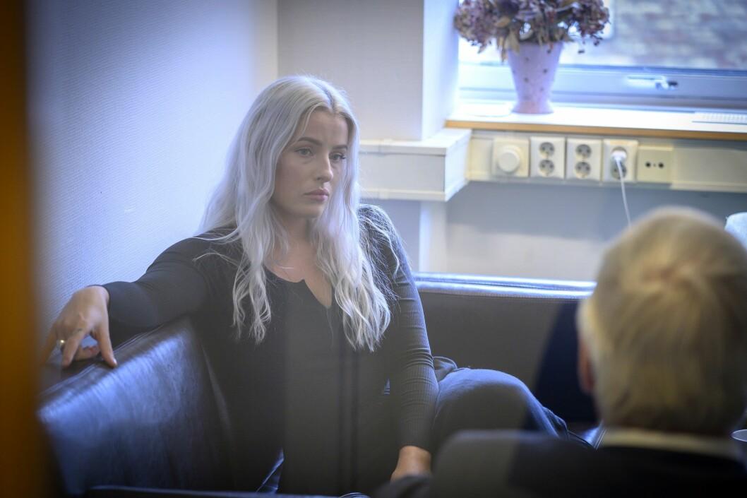 Sofie Bakkemyr i forkant av PFU-møtet 28. august 2019.