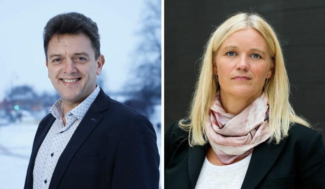 Rolf Francis Sims er Public Affairs Manager og Kindred Group. Til høyre: Gunn Merete Paulsen i Lotteri- og stiftelsestilsynet