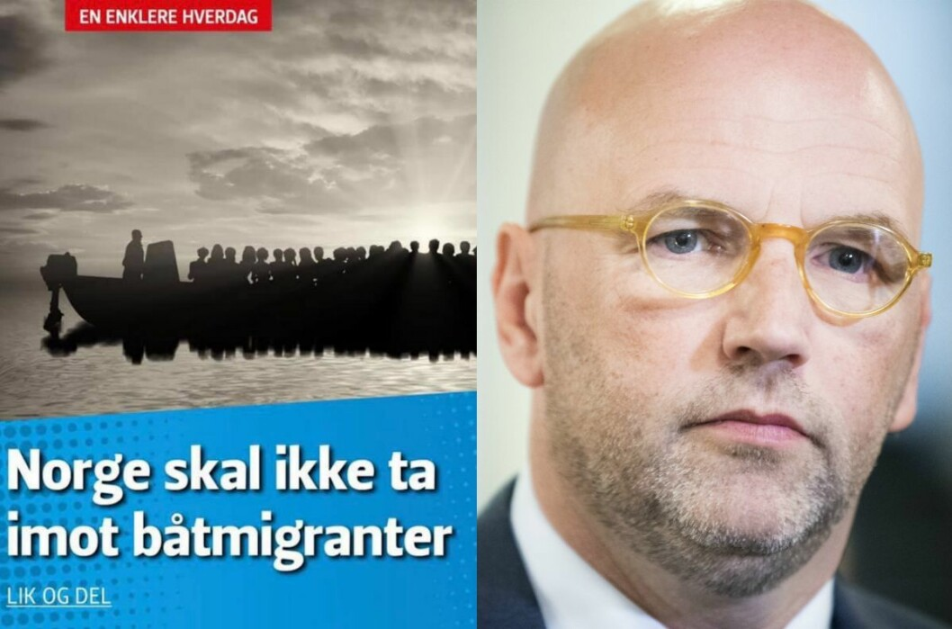 Facebook-posten til Sylvi Listhaug (til venstre) og advokat Brynjar Meling.