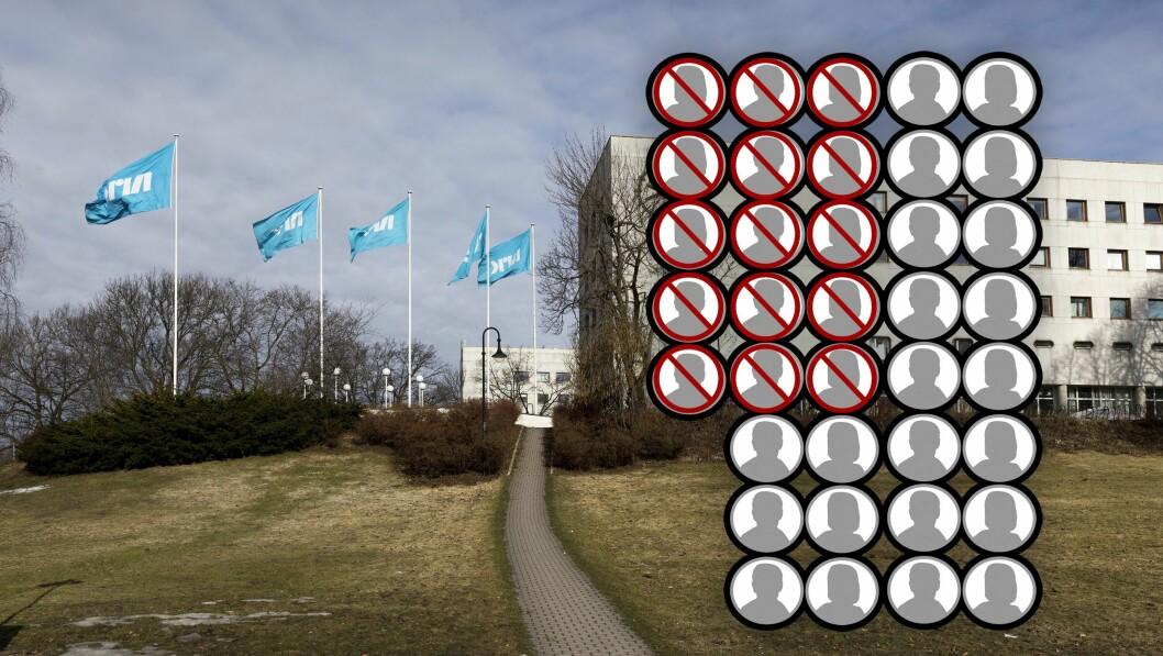 15 av 37 søkere til jobben som kommunikasjonssjef i NRK er unntatt offentlighet. Illustrasjon