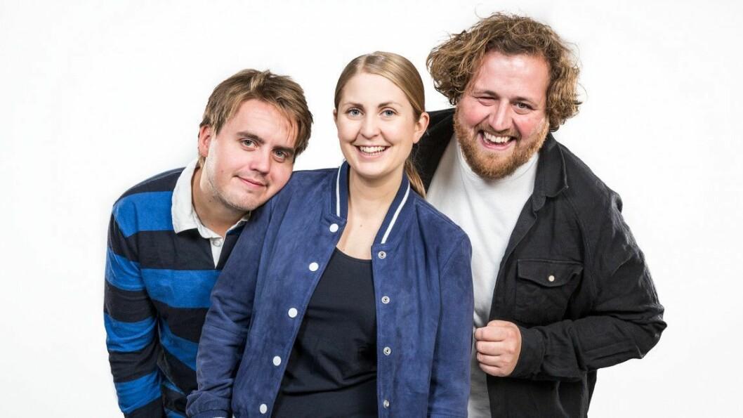 Markus Neby, Silje Nordnes og Ronny Brede Aase er programledertrioen i P3Morgen.