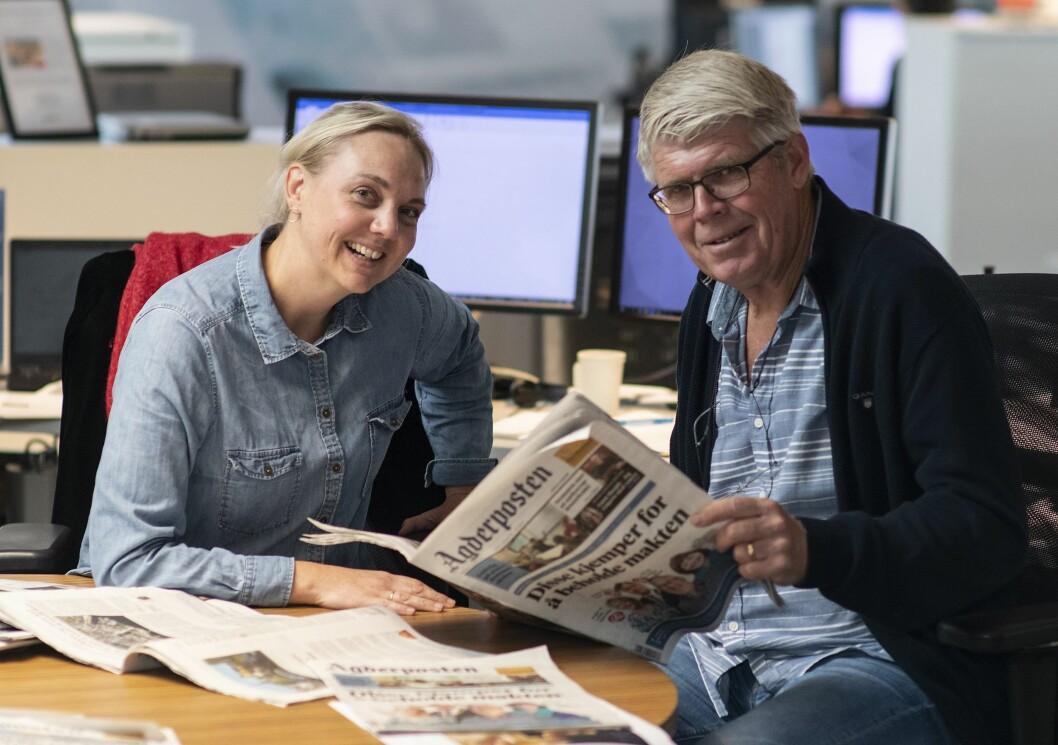Redaktørene Katrine Lia og Oddvar Paulsen i Agderposten vier stor plass til leserinnlegg. Veldig stor plass.