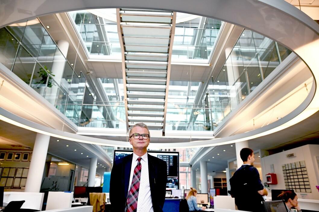 Sjefredaktør i Stavanger Aftenblad, Lars Helle, leder arbeidet med ny medielandsby i Stavanger.