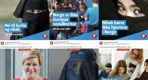 FrP-sluttspurt med over 60 Facebook-annonsar om innvandring sidan torsdag