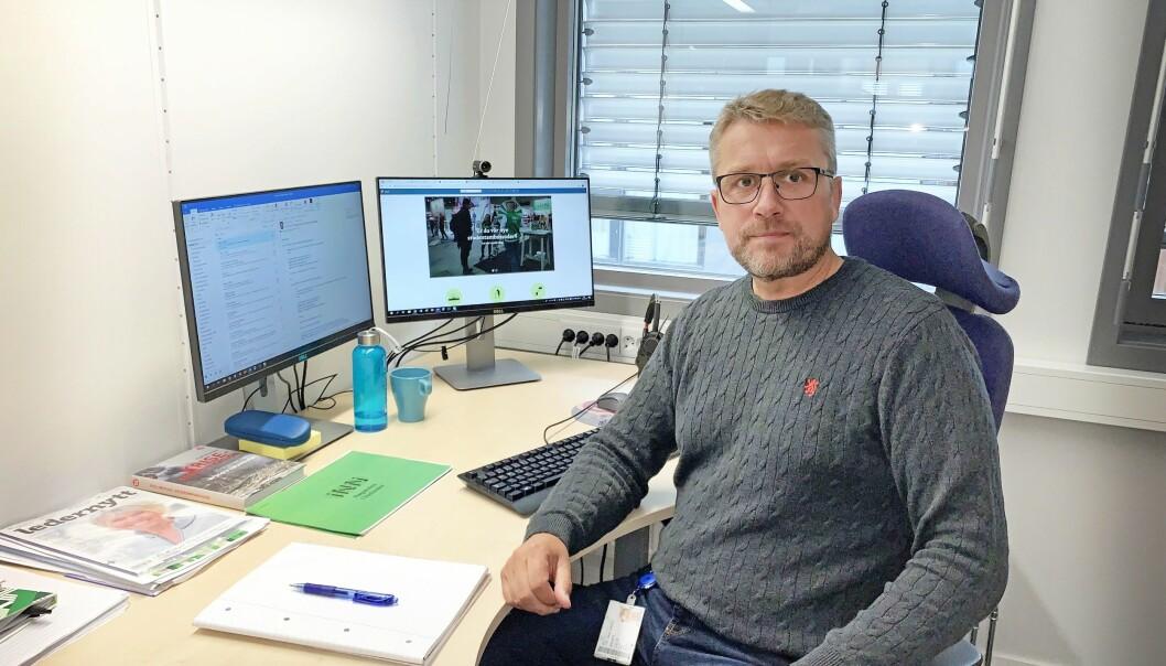 Frode Skår, kommunikasjonsdirektør hos Høgskolen i Innlandet