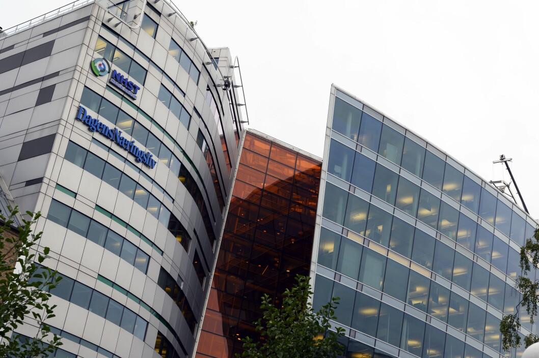 NHST Media Group sine lokale i Oslo, med mellom anna Dagens Næringsliv og Morgenbladet.