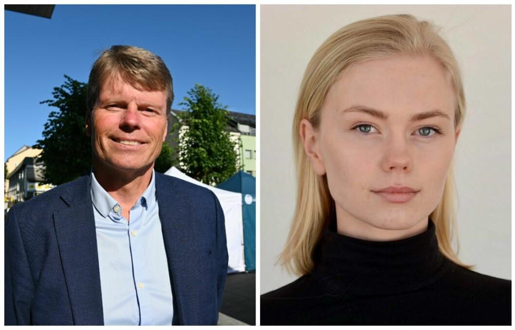Vidar Udjus er politisk redaktør for Fædrelandsvennen, mens datteren Elisabeth Udjus er lokalpolitiker for MDG i Kristiansand.