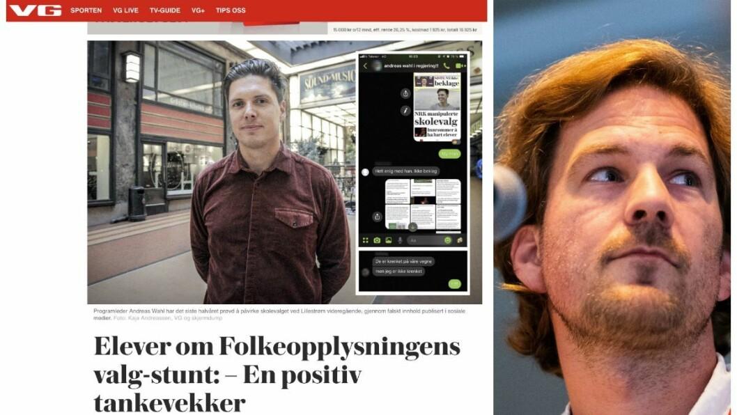 Journalist Eiliv Frich Flydal i VG svarer Lillestrøm-elevene om NRK og «Folkeopplysningen»