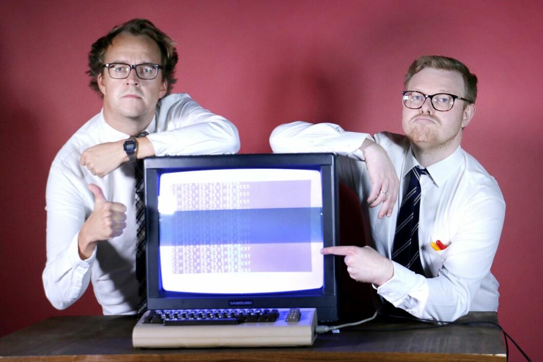Redaktørene Ole Petter Baugerød Stokke (t.h) og Jørgen Jacobsen (t.v)