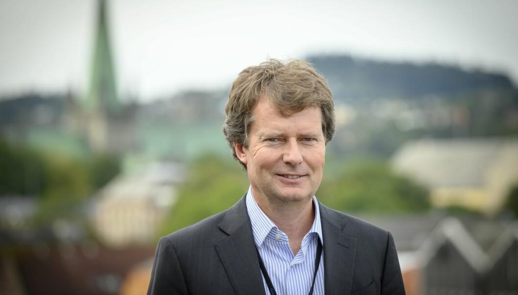 Konsernsjef Per Axel Koch i Polaris Media kan glede seg over en sterk start på 2021.