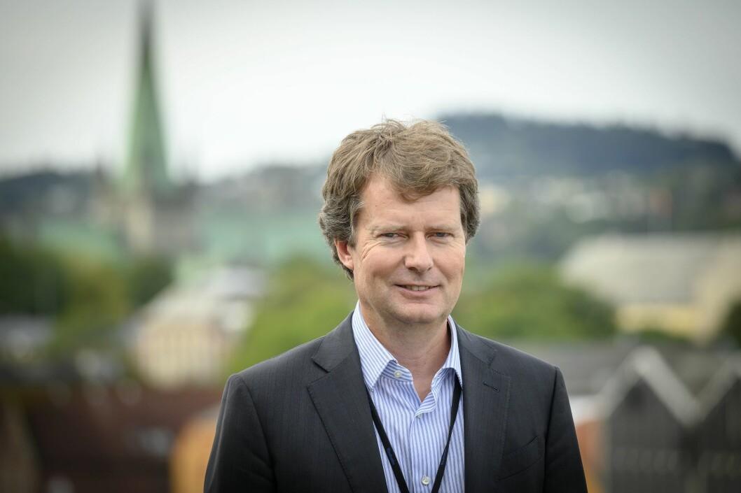Konsernsjef Per Axel Koch i Polaris Media. Her frå sitt kontor i Trondheim.