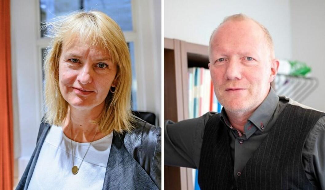 Radni Øgrey i MBL og Arne Jensen i Norsk Redaktørforening.