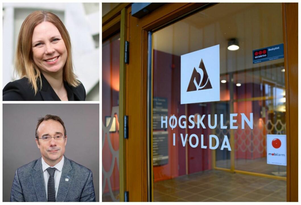Audhild Gregoriusdotter Rotevatns (øverst til venstre) klage til Kunnskapsdepartementet ble mandag besvart og blant annet oversendt til Volda-rektor Johann Roppen.