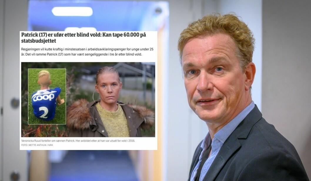 Slik såg saka ut på NRK-fronten. Espen Olsen Langfeldt er redaktør i NRK Direkte.