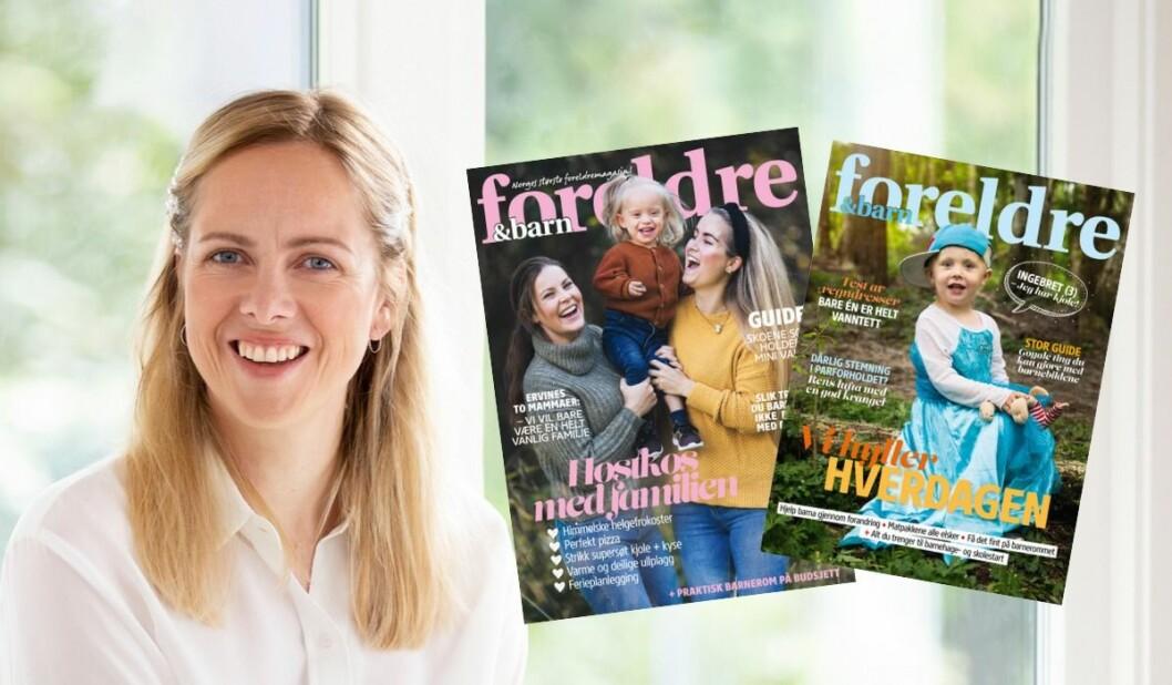 Nina Lødemel er ny redaktør i Foreldre&Barn, og vil jobbe for å vise fram mangfold i magasinet. Her med to av høstens forsider.