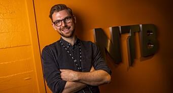 Anders R. Christensen (33) er NTBs første nye fulltidsansatte journalist på fire år