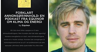 MDG-Trædal raser mot Equinor-annonse i Aftenpostens Forklart-podkast: – En skam