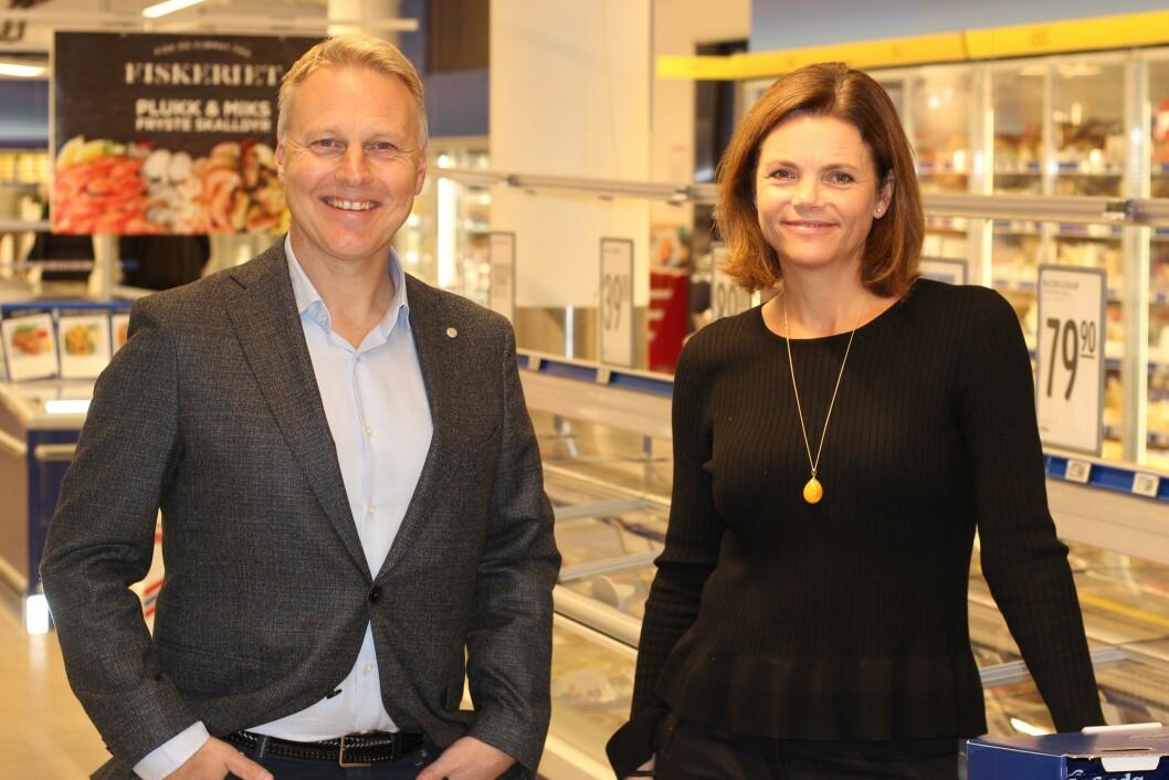 Pia Martinsen Mellbye og administrerende direktør i Rema 1000.