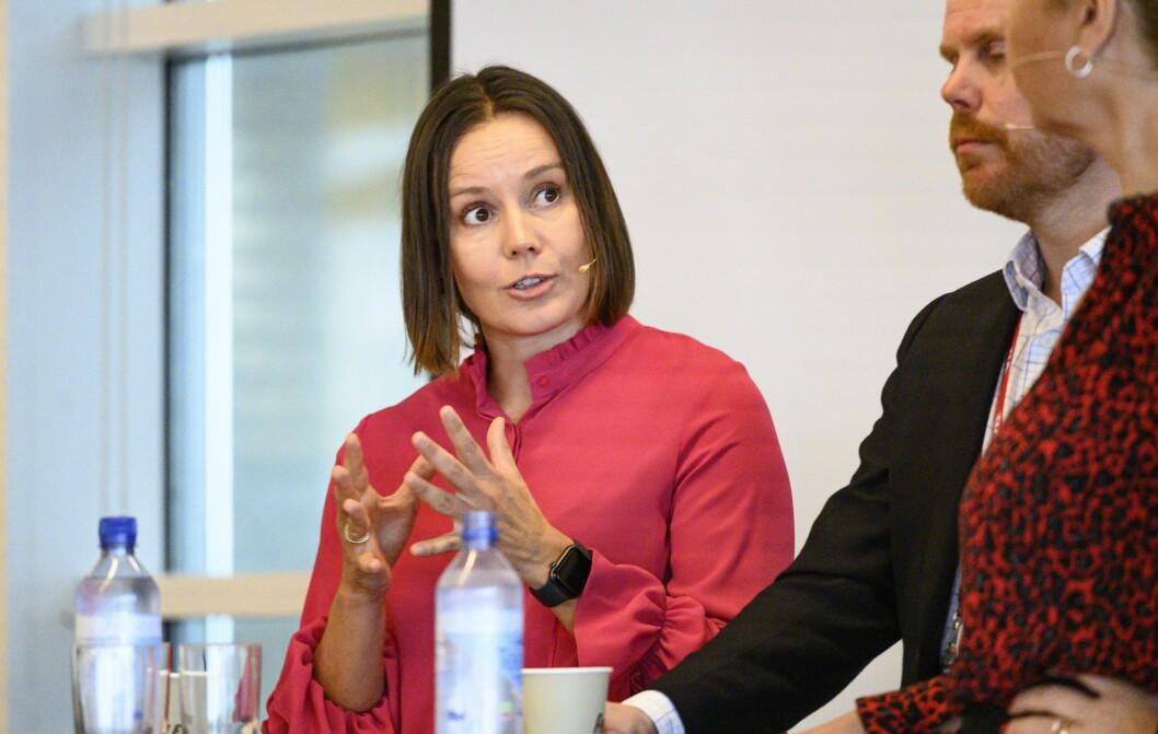 Egmont Publishing-sjef Nina Vesterby, under Medienettverkets høstmøte.