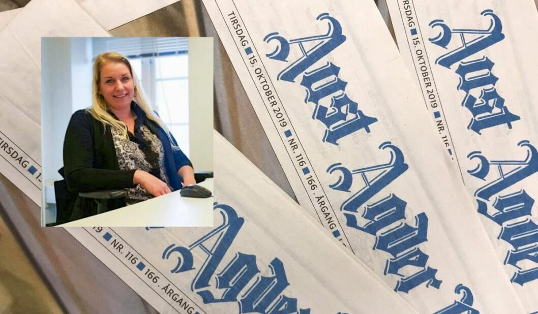 Camilla Glad i Aust-Agder Blad ble denne uken beskyldt for å «klippe og lime» i lederartiklene sine.
