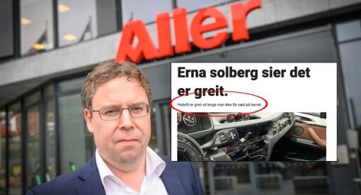 «Pedofili er greit så lenge man ikke får sæd på barnet», publiserte Dagbladet. Nå har de slettet innholdet