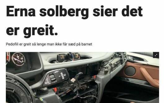 Slik så saken ut hos Dagbladet.no