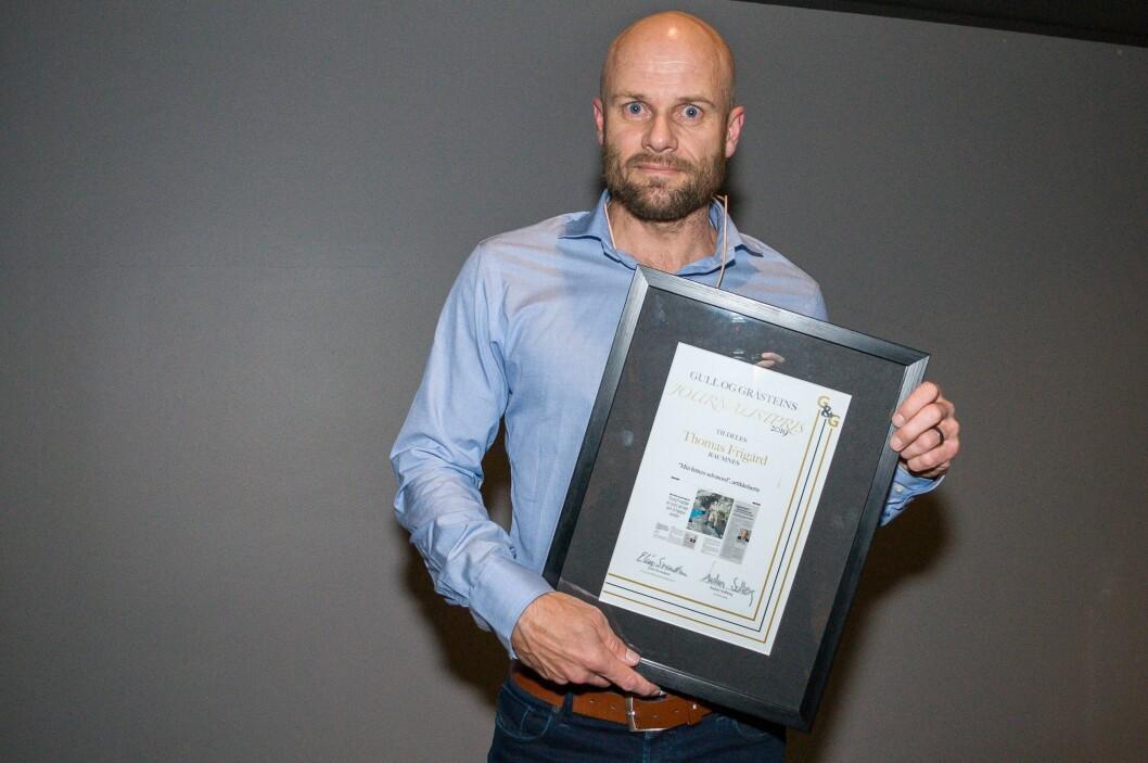 Vinner av Gull og Gråstein-prisen, Thomas Frigård.