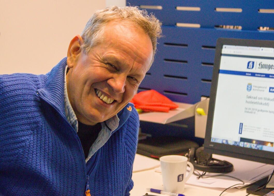 Truls Horvei i Haugesunds Avis har 40 år  bak seg som journalist.