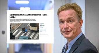 NRK publiserte usladdet bilde av antatt gjerningsmann på Torshov - mener han ikke er identifiserbar