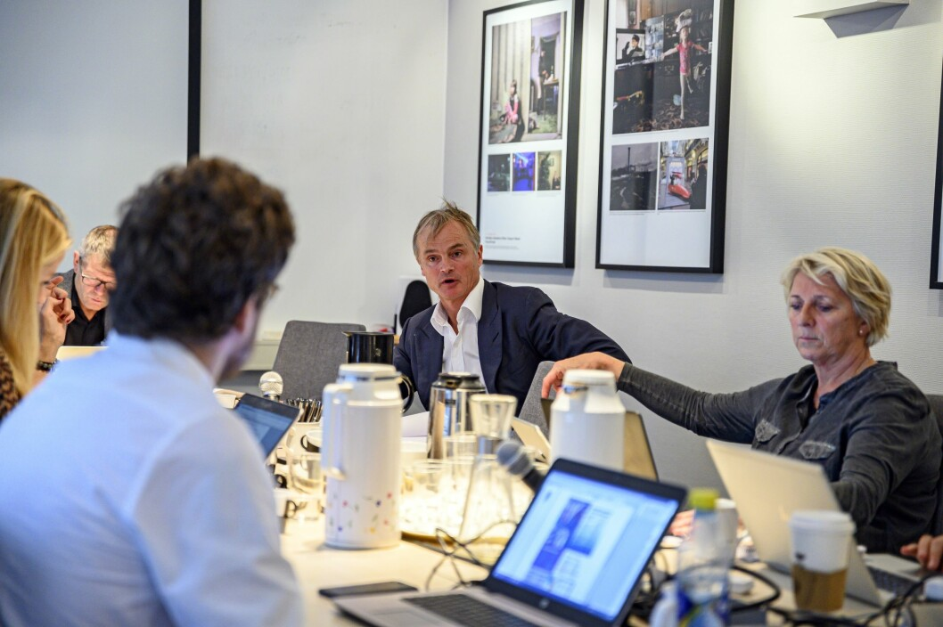 Øystein Stray Spetalen (til venstre) tok dissens i fellingen mot både Aftenbladet og Dagen, mens Marit Breivik og resten av medlemmene støttet innstillingen.