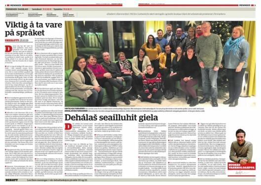 Faksimile av ledersidene i Finnmark Dagblad