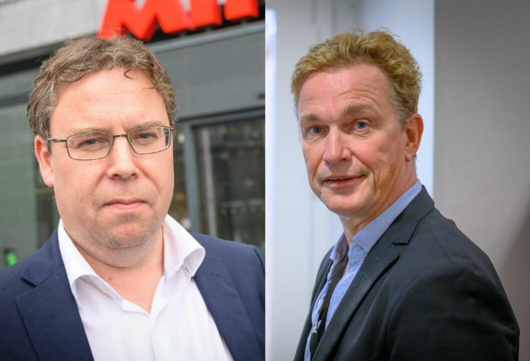 Nyhetsredaktør Frode Hansen i Dagbladet og Espen Olsen Langfeldt, redaktør i NRK Direkte.