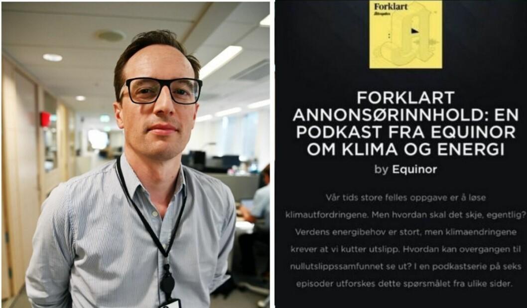 Morten Andersen i Aftenposten har tidligere forsvart det nye annonseformatet. Nå skal saken behandles i PFU.