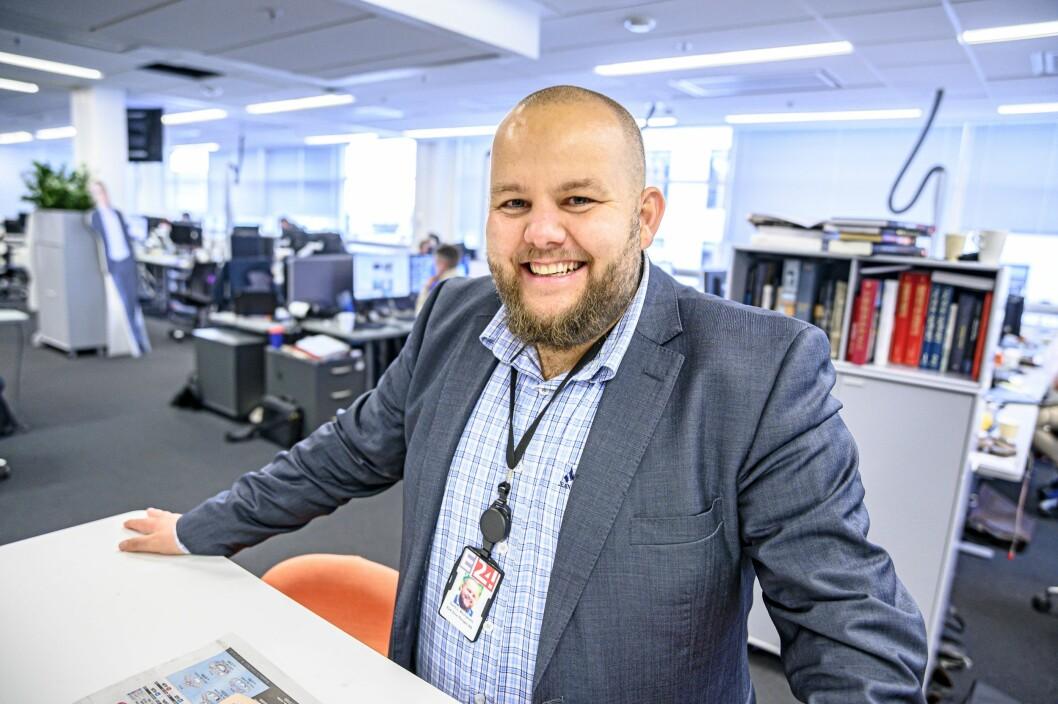 E24-sjefredaktør Gard L. Michalsen.