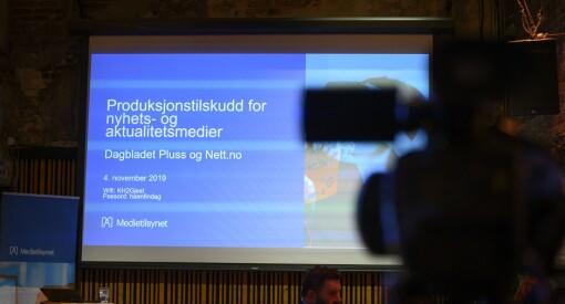 Her kan du se Medietilsynets fremleggelse da det ble klart at de ikke gir pressestøtte til Dagbladet Pluss og Nett.no